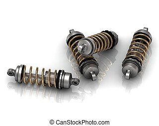 4 automotive shock absorber with gold springs