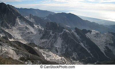 The Marble Quarries, Carrara, Italy - The Marble Quarries -...