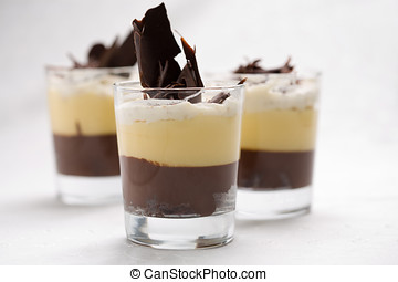 Chocolate trifle - Delicious chocolate trifle with different...