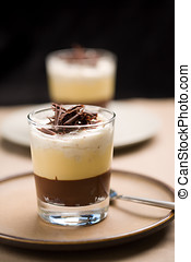 Chocolate trifle - Delicious chocolate trifle with custard...