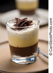 Chocolate trifle - Delicious chocolate trifle with chocolate...