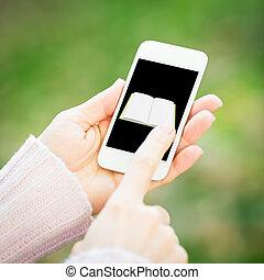 Smartphone in woman hands