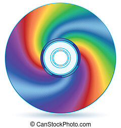 Abstract CD - Abstract compact disc - blend and gradient...