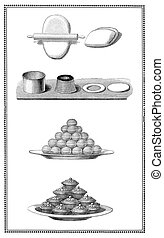 Kitchen and recipes of the past:from dough to cookies -...