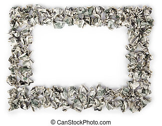 Crimped Cash Frame - A very large amount of 100 US$ money...