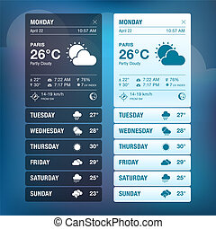 Weather widgets template - Set of weather widgets templates...