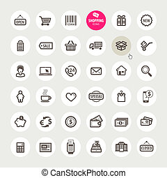 Set of shopping icons  - Set of vector shopping icons