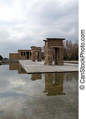 Debod Temple in the Montana Park (Madrid)