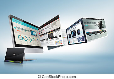 Web design concept for presentation, banner, advertising