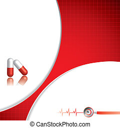Abstract medical background - Abstract red grid medical...