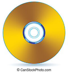 Gold CD - Gold compact disc - blend and gradient only