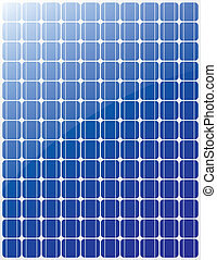 Solar panel vector blue stripes
