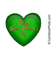 St Pattys Day Graphic Green heart
