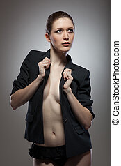 Portrait of sexy young woman