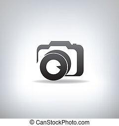 estilizado, foto, cámara