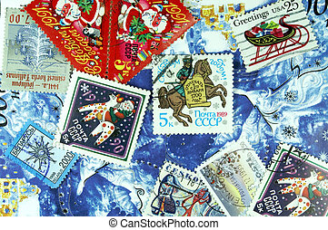 The New Year background of post stamp. - The accidental...