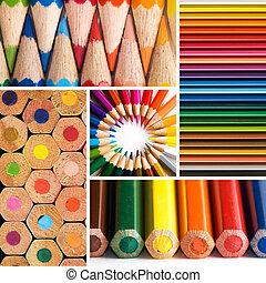 pencils - color pencils, collage