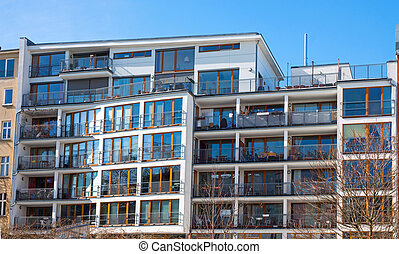 Modern apartment house in Berlin