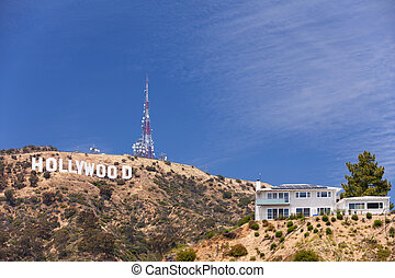 Hollywood sign on the hill