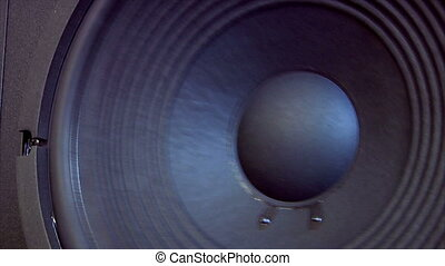 speaker subwoofer dolly - A close Loudspeaker shot with a...