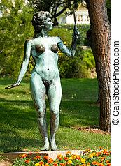 Nude Statue in a Monaco Park