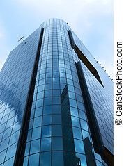 Modern architecture of blue glass