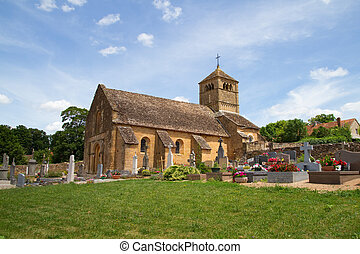 Church of Ameugny in Bourgogne,France