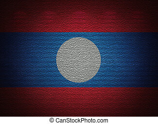 Laotian flag wall, abstract grunge background
