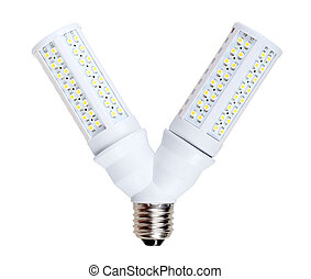 LED-lamps in V-form splitter - Two energy-saving LED-lamps...