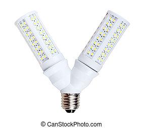 LED-lamps in V-form splitter - Two energy-saving LED-lamps...