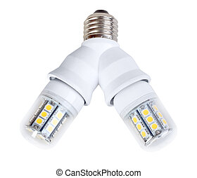 Two lamps in splitter - Two energy-saving mini diode-lamps...
