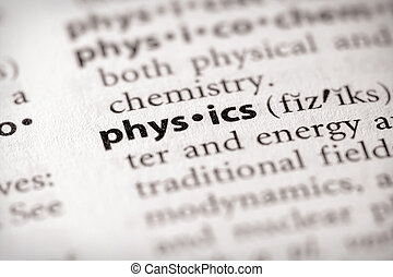 Physics - Selective focus on the word physics Many more word...