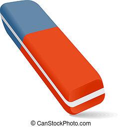 Eraser - Illustration of a pencil eraser red and blue