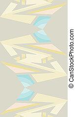 Flowing Reverse Arrow Pattern