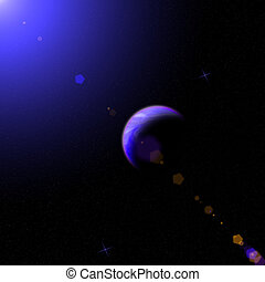 the cosmos, planets, stars - Draw a picture of the cosmos,...