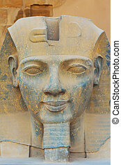 The sculpture of the King Ramses II (Egypt) - The sculpture...