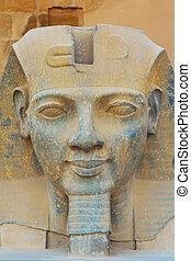 el, Escultura, rey, ramses, II, (Egypt)