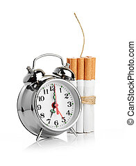 stop smoking isolated on white background