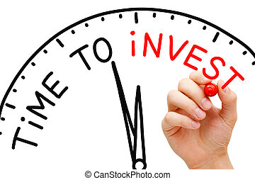 Time to Invest - Hand writing Time to Invest concept with...