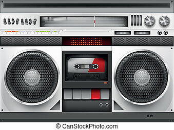 Eighties Boombox Vector illustration