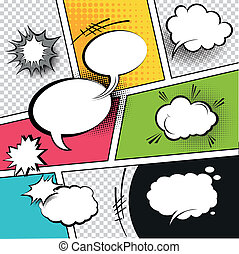 Comic Strip Speech Bubbles - Comic Speech Bubbles on a comic...
