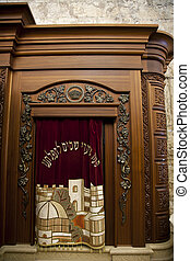Veiling the Holy Scrolls - A cabinet for holy Torah old...