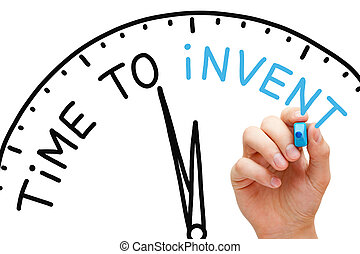 Time to Invent - Hand writing Time to Invent concept with...