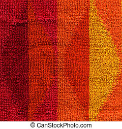 Towel Cloth Texture - Pink, Red, Orange & Yellow - High...