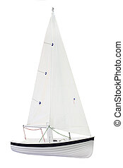 sailboat under the white background