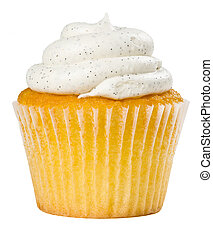 Vanilla Bean Cupcake Isolated - Delicious Vanilla Bean...