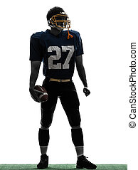 quarterback american football player man standing silhouette