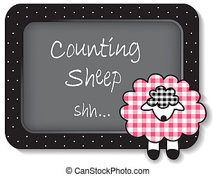 Baby Lamb Nap time Bulletin Board