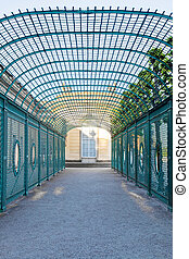 Sanssouci, pavilion - Ancient gallery in a palace garden in...