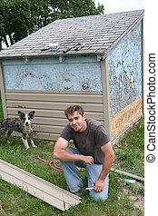 Siding Shed - Young Man Siding Shed